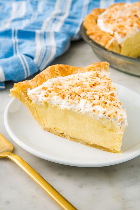 Coconut Cream Pie vertical — Delish.com