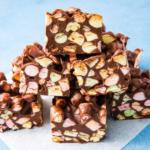 Chocolate Confetti Squares - Delish.com