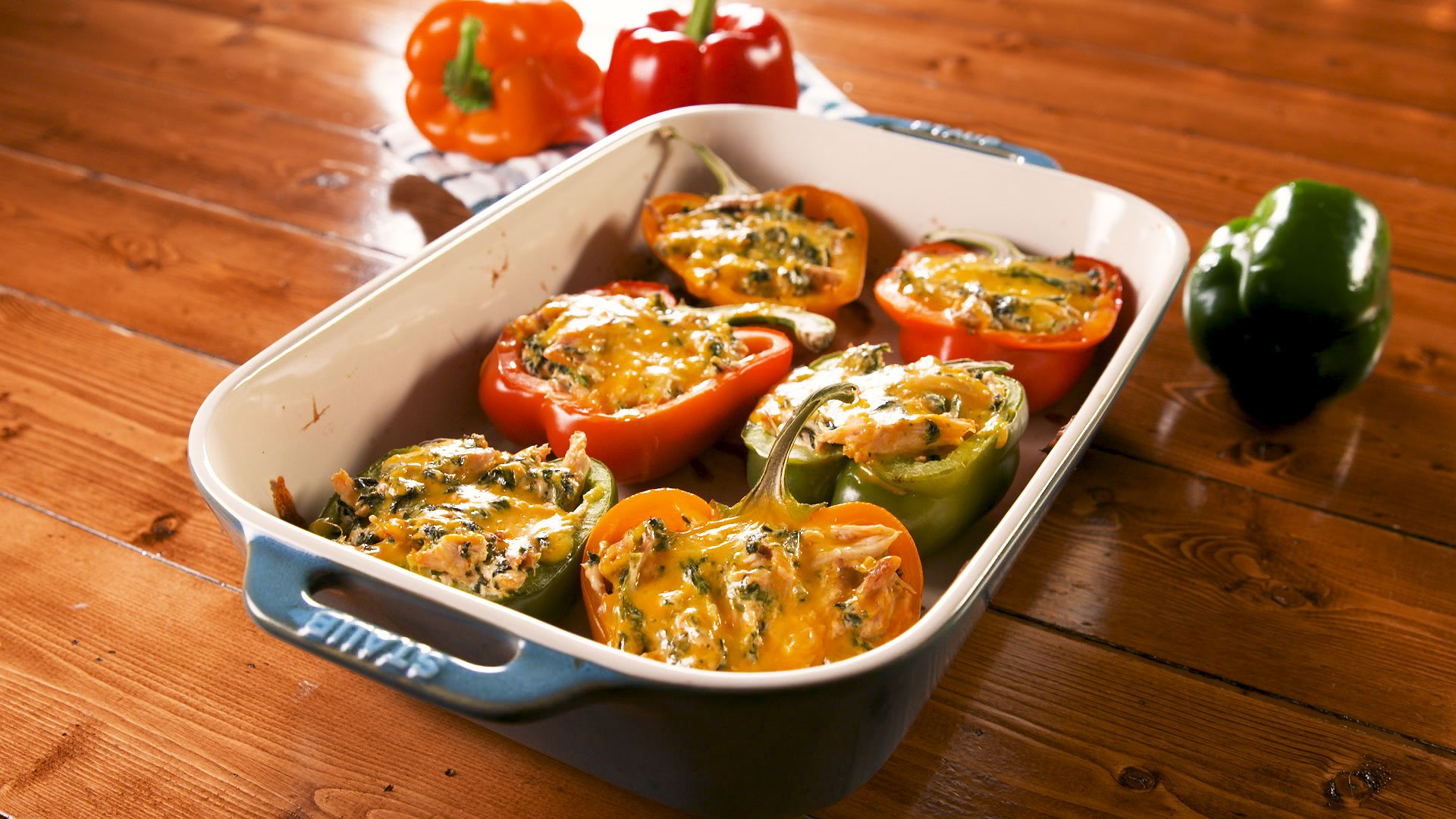 Baked Stuffed Peppers   Recipe