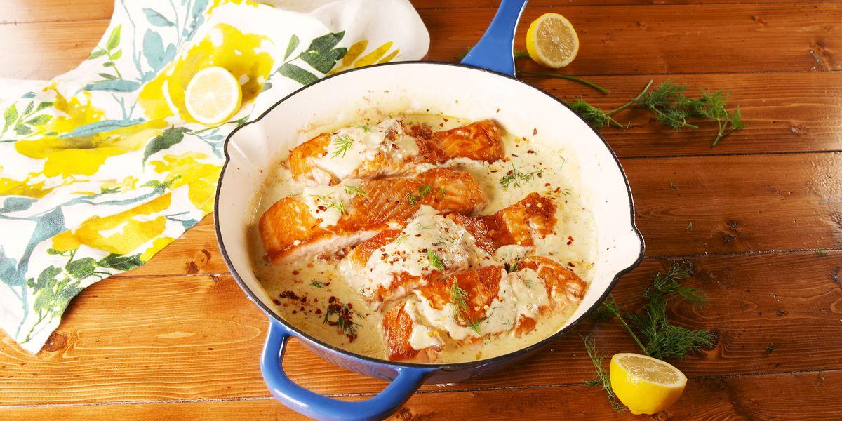 Creamy Lemon Garlic Salmon Only Takes 30 Minutes