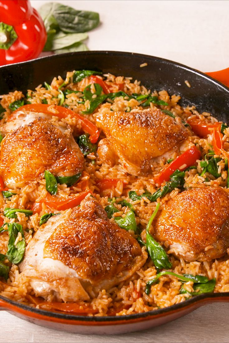25 Easy Chicken And Rice Recipes How To Make Best Dishes With Chicken And Rice Delish Com