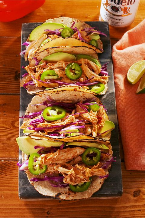Crockpot Chicken Tacos - Delish.com