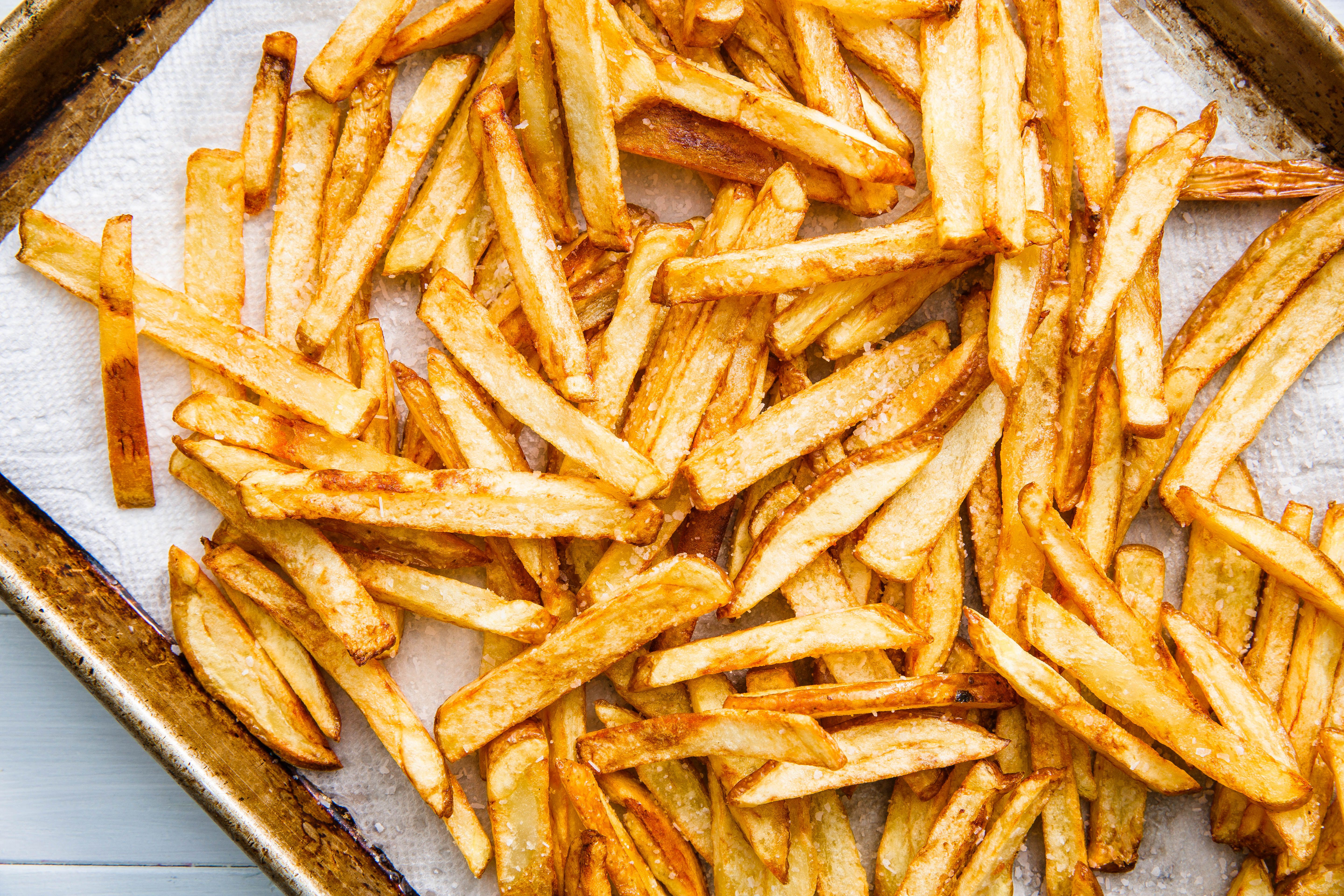 To make change in french fry crispy at home recipe