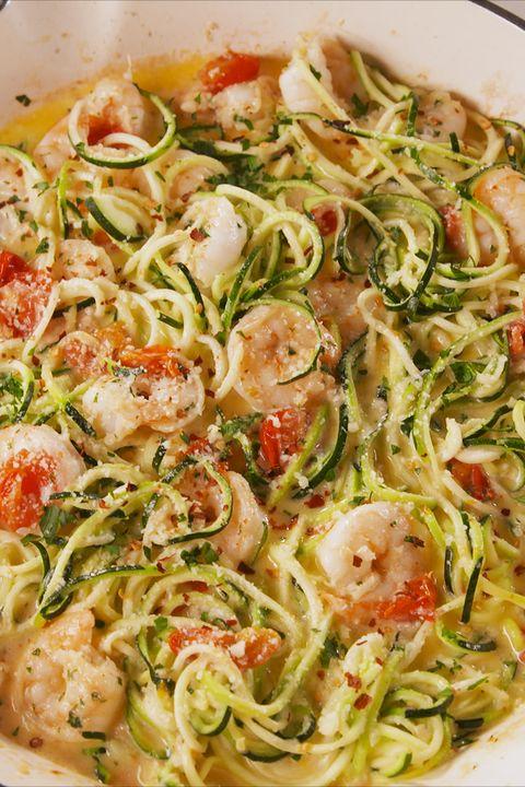 garlicky shrimp zucchini noodles