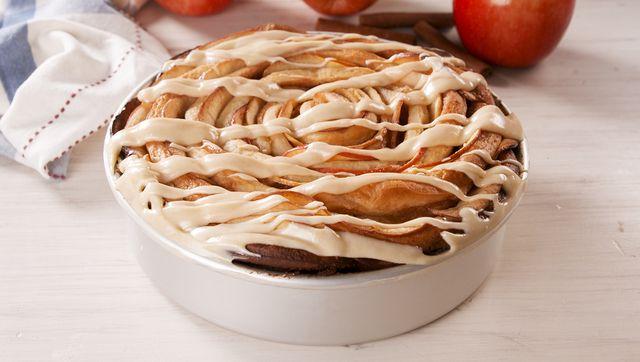 giant caramel apple cinnamon roll   delishcom