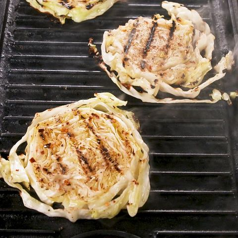 grilled cabbage steaks   delishcom