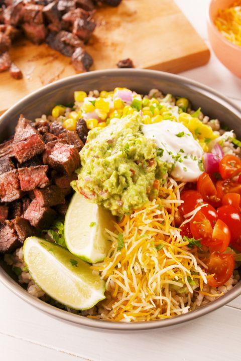 Steak Burrito Bowls Vertical
