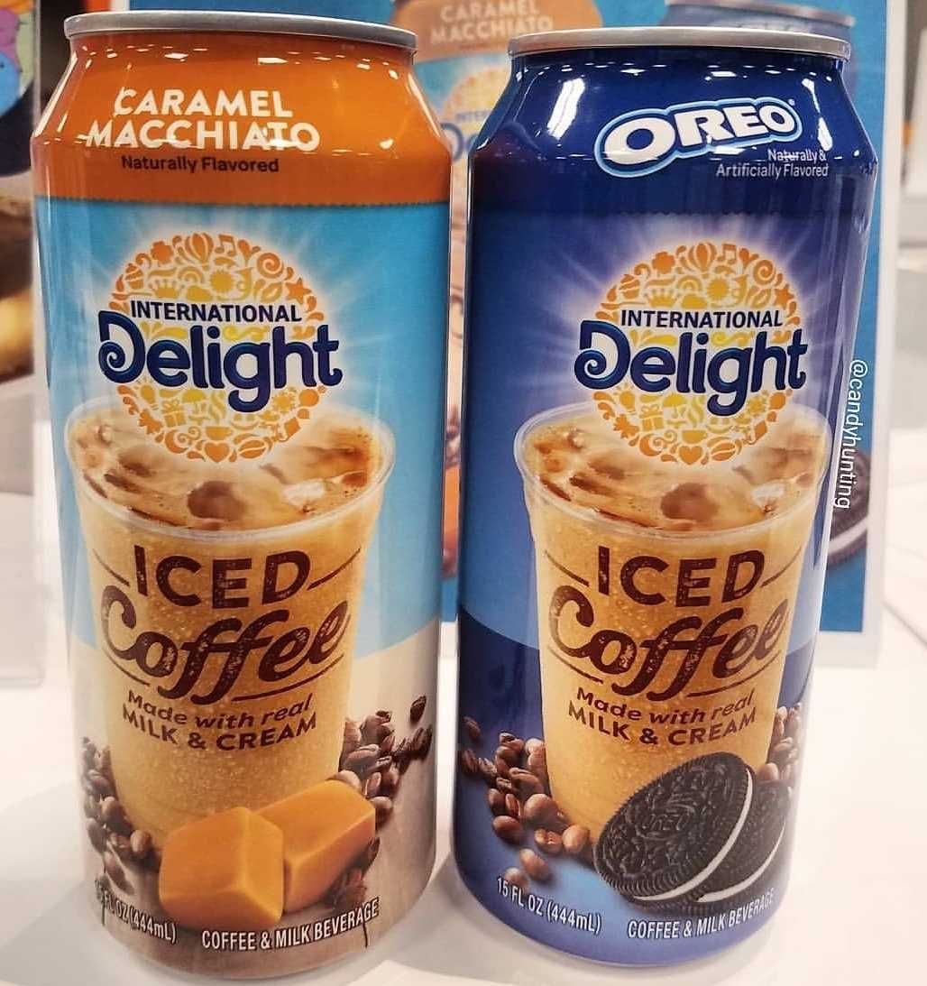 International Delight Is Debuting Canned Coffee In Two Flavors, Caramel Macchiato And Oreo