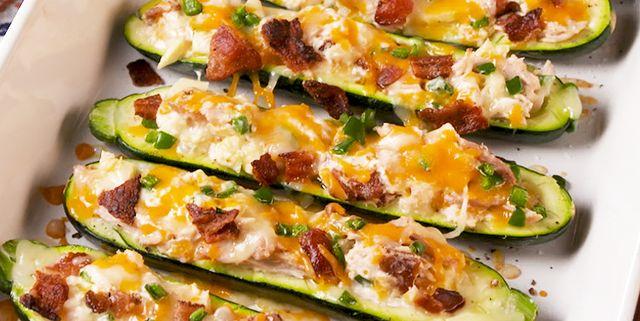 Best Jalapeño Popper Zucchini Boats Recipe How To Make Jalapeño Popper Zucchini Boats