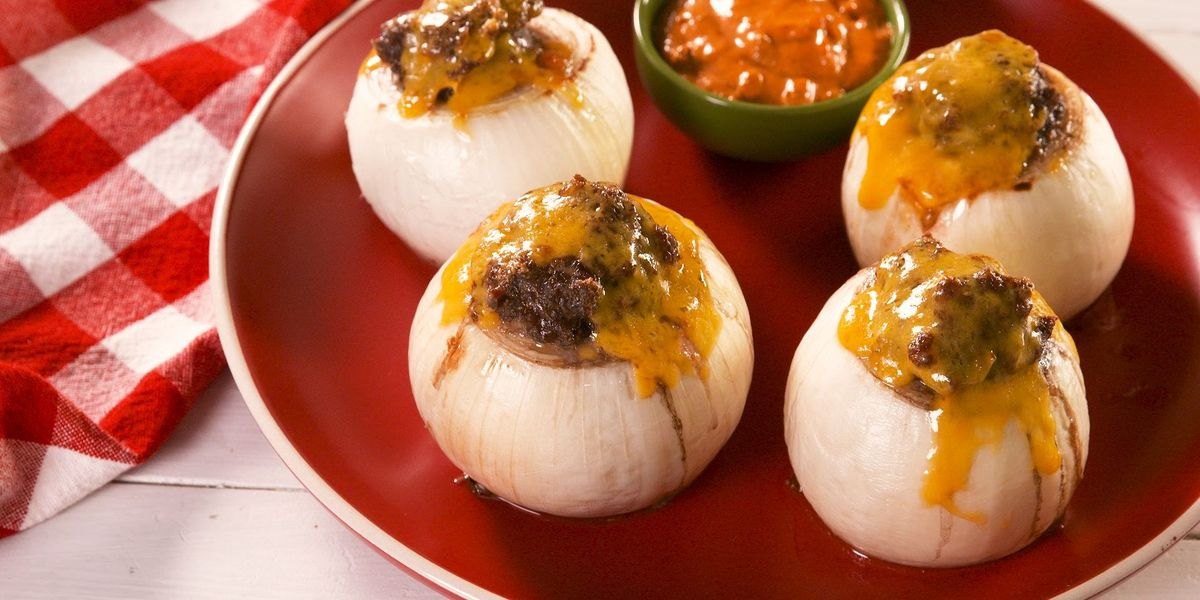 These Keto Burger Stuffed Onions Have The Most Amazing Secret Sauce