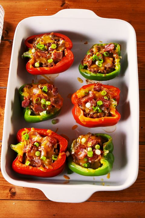 Keto Stuffed Peppers - Delish.com