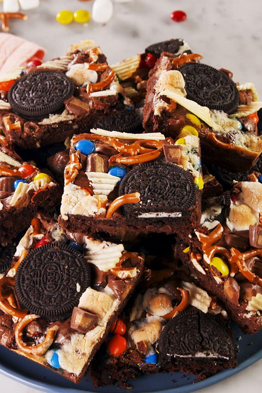 Trash Brownies - Delish.com