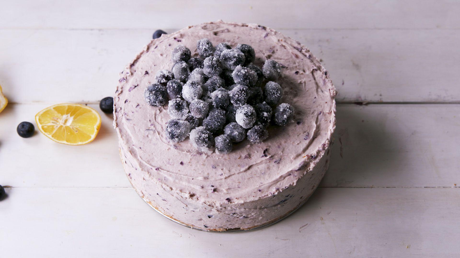 Blueberry Chocolate Buttermilk Cake