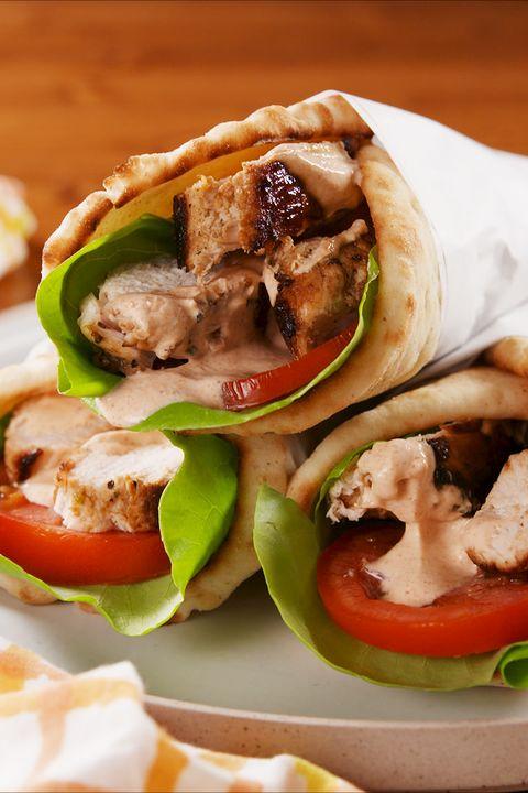 Dish, Food, Cuisine, Ingredient, Gyro, Sandwich wrap, Souvlaki, Sandwich, Produce, Finger food,