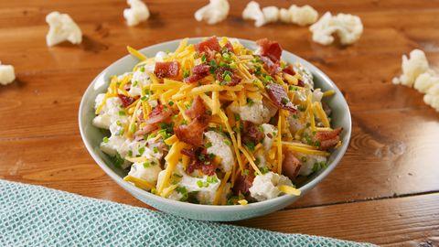 Best Loaded Cauliflower Salad Recipe How To Make Loaded