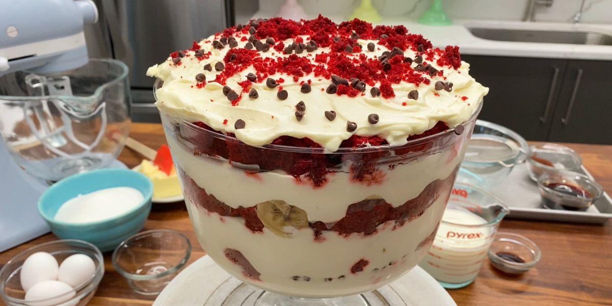 Red Velvet Banana Pudding
