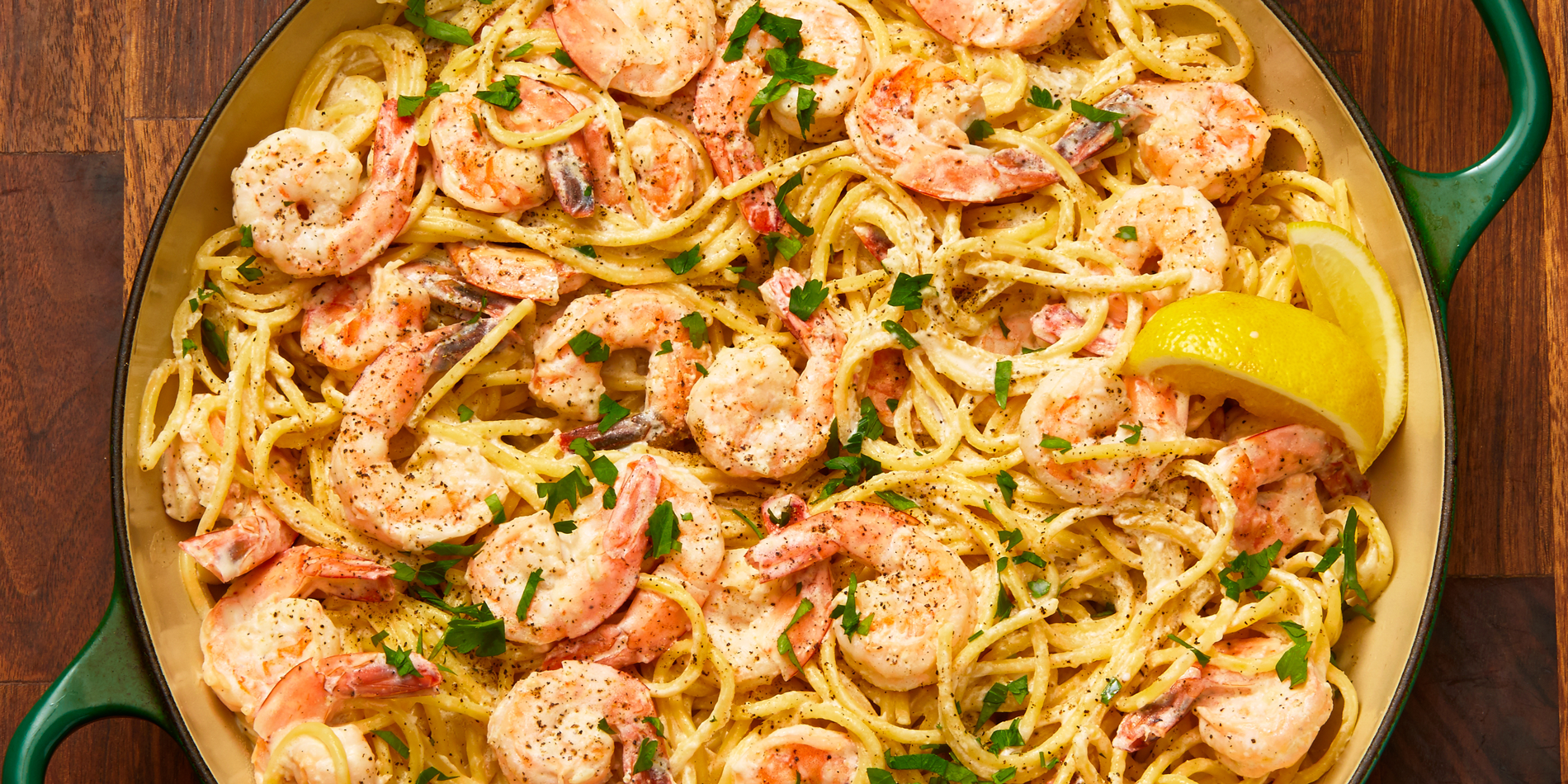 Image result for Creamy Lemon Pepper Shrimp Spaghetti by delish