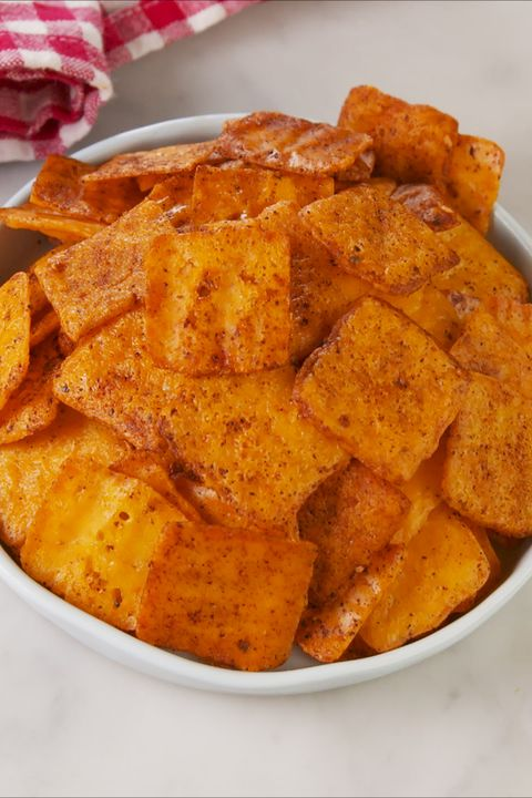 Nacho Cheese Crisps - Delish.com