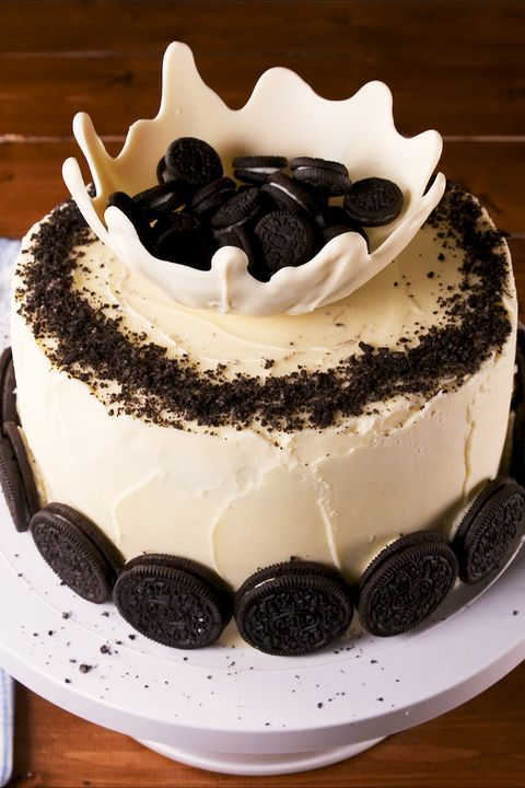 oreos and milk cake