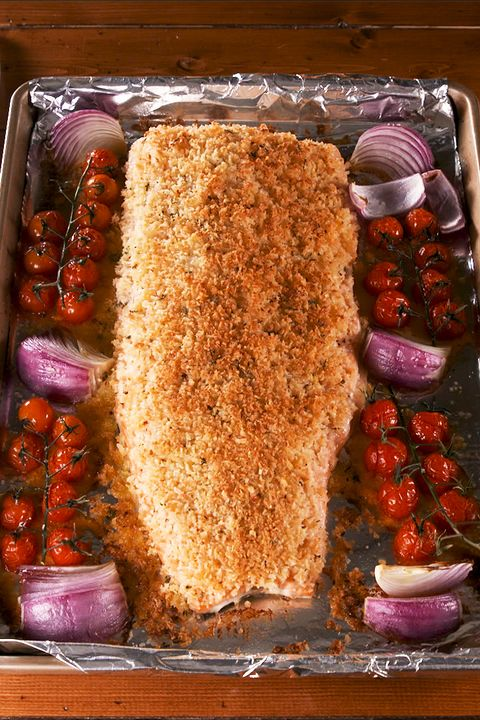 Parm Crusted Salmon - Delish.com
