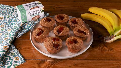 pbj banana bread muffins
