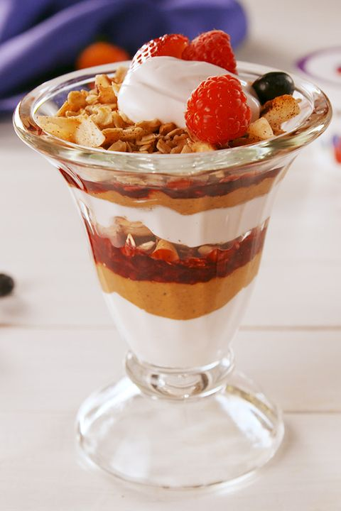 Dish, Food, Cuisine, Sundae, Frozen dessert, Ice cream, Dessert, Knickerbocker glory, Ingredient, Whipped cream,