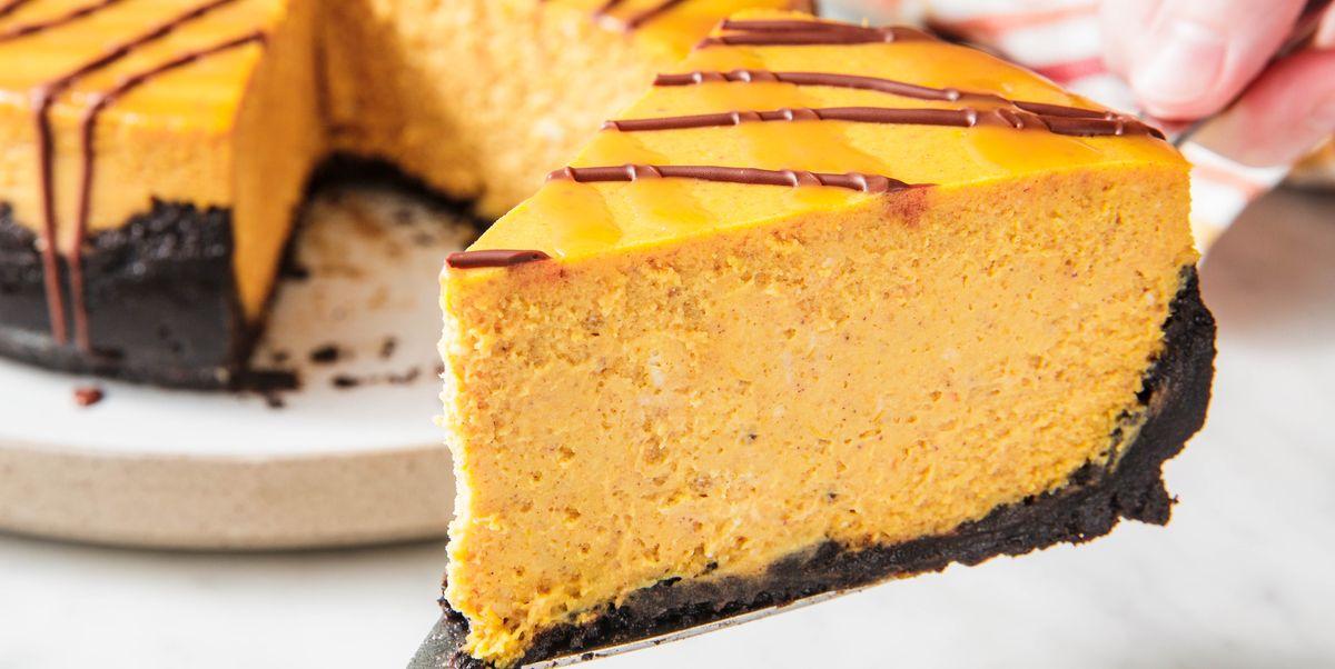 Best Chocolate Pumpkin Cheesecake Recipe How To Make Chocolate Pumpkin Cheesecake