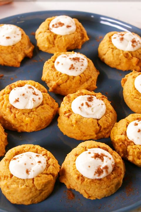 Pumpkin Cheesecake Thumbprints - Delish.com