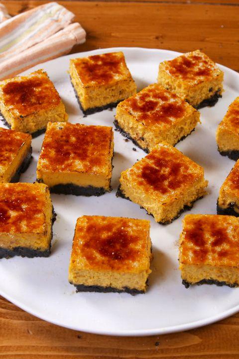 Pumpkin Crème Brûlée Cheesecake Bars