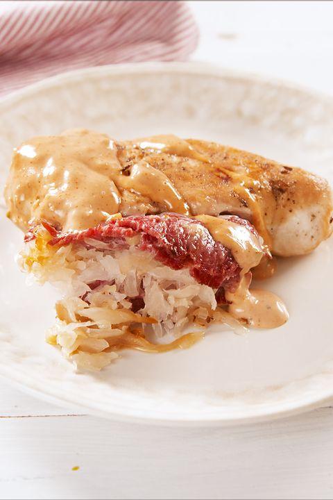 Reuben Stuffed Chicken - Delish.com
