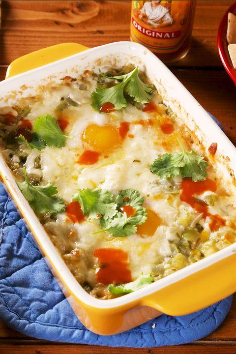 salsa verde baked eggs