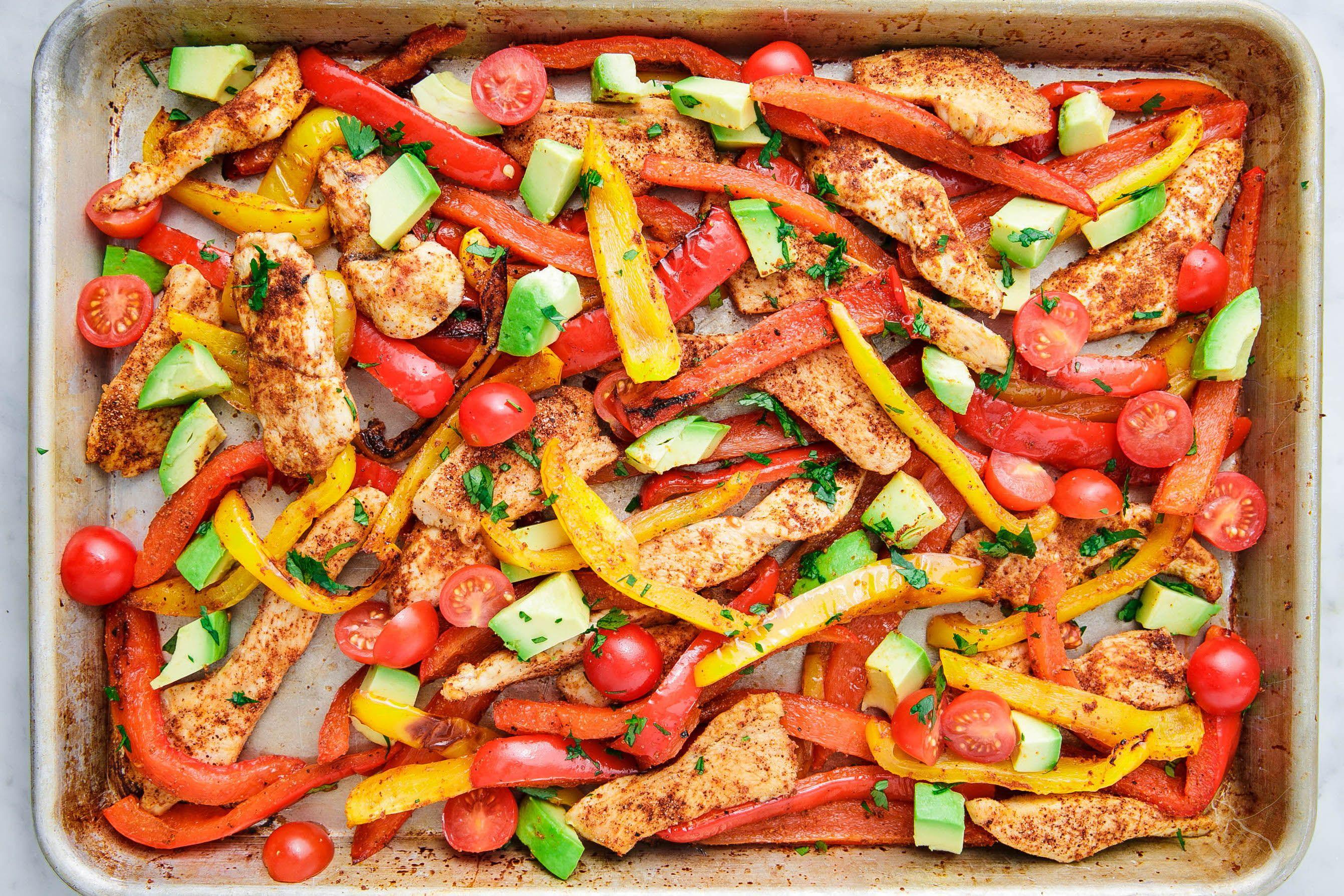 Best Sheet Pan Chicken Fajitas Recipe How To Make Sheet Pan Chicken Fajitas
