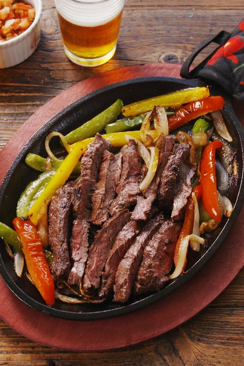 Sizzling Steak Fajitas vertical