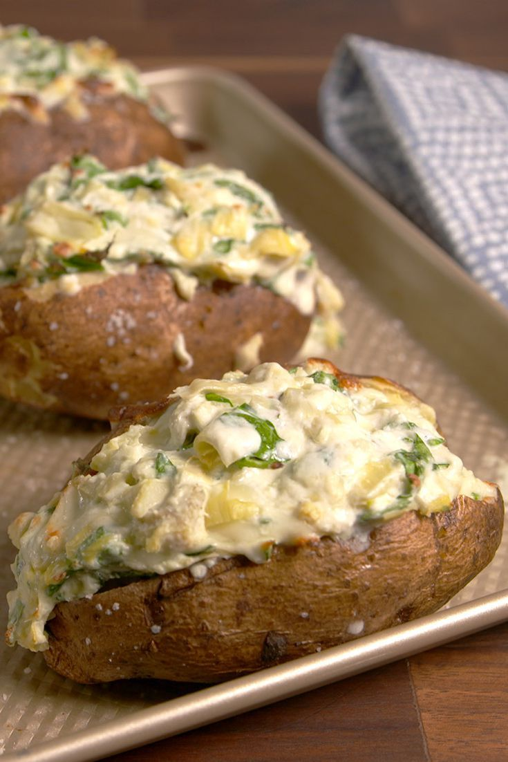 spinach and artichoke baked potato