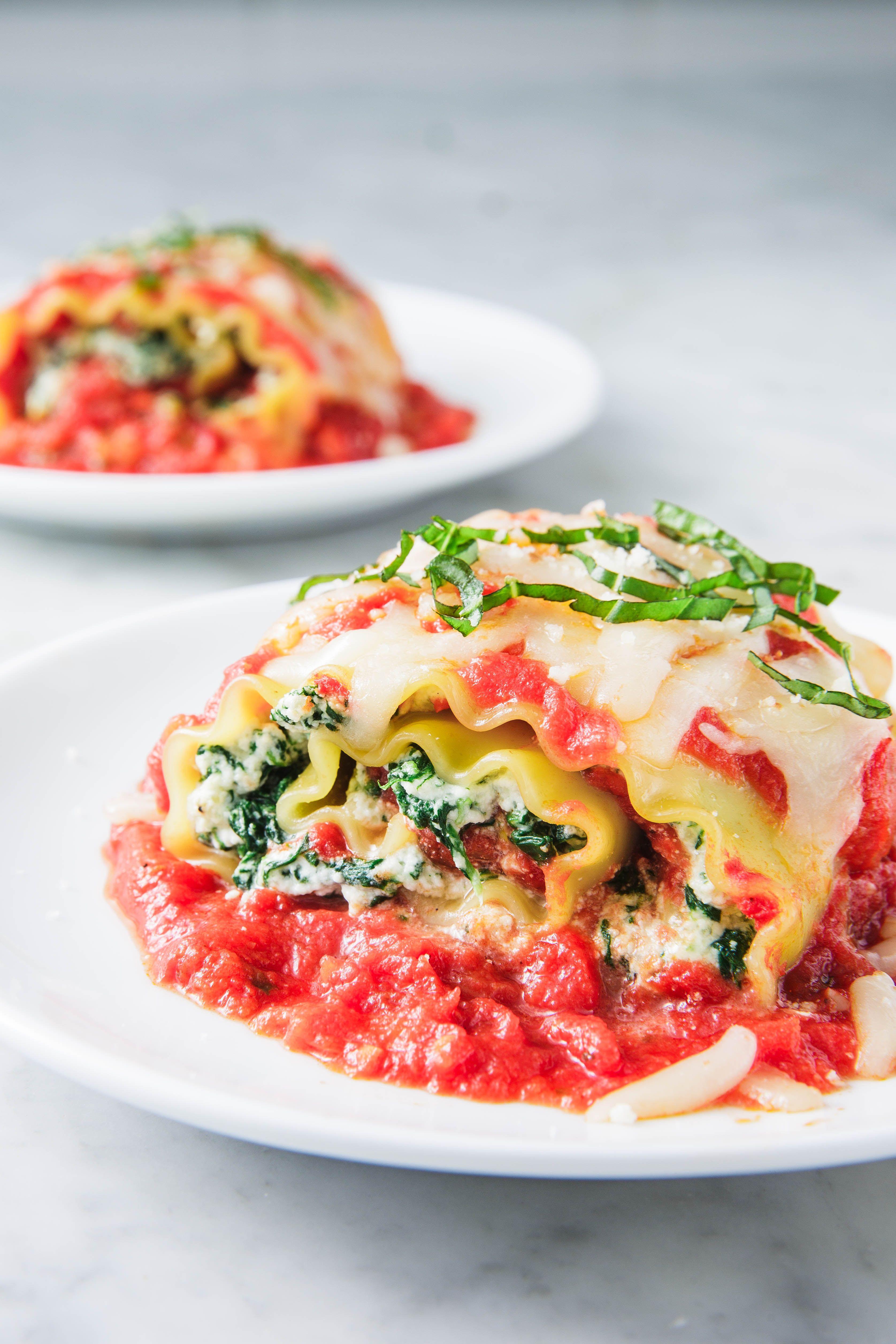 Spinach Lasagna Roll-Ups - Delish.com