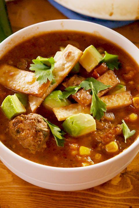 Tex-Mex Meatball Soup - Delish.com