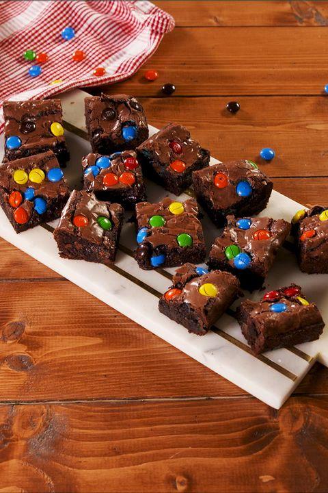 M&M Fudge Brownies