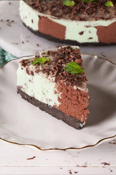 mint choc chip cheesecake