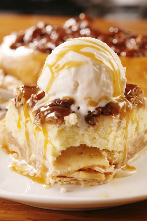Upside-Down Cheesecake Apple Pie - Delish.com