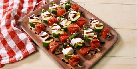 Watermelon Salad Skewers Delish