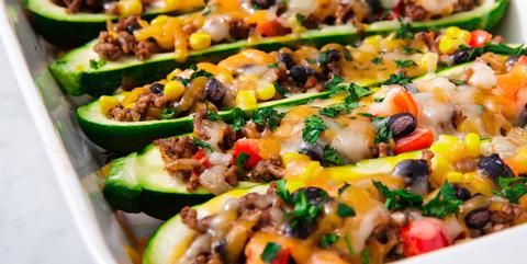 Zucchini Burrito Boats - Delish.com
