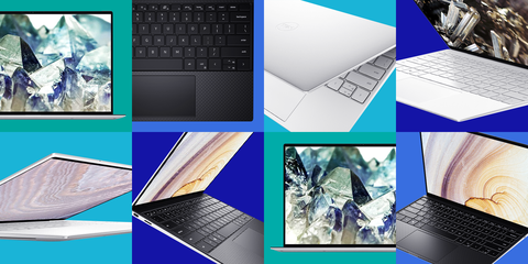 collage of angles of dell xps 13 laptop