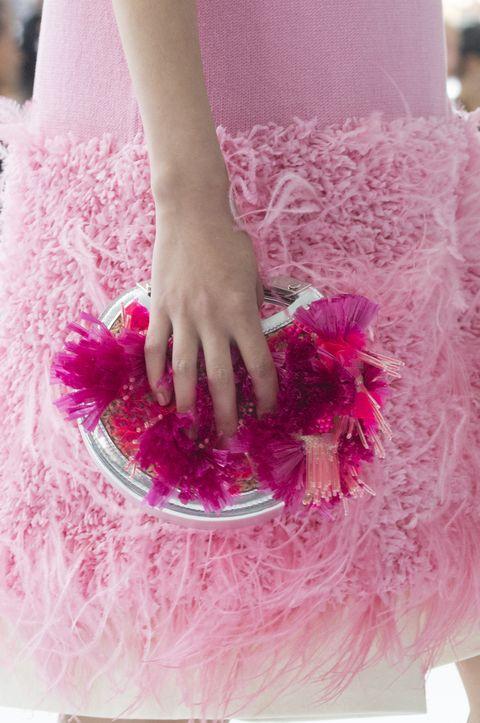 Pink, Nail, Red, Magenta, Dress, Hand, Leg, Costume, Finger, Petal,