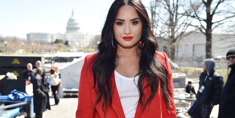 Demi Lovato at March For Our Lives In Washington, DC