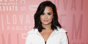 Demi Lovato visits Fabletics at The Village at Westfield Topanga
