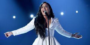 Demi Lovato op de Grammy's 2020