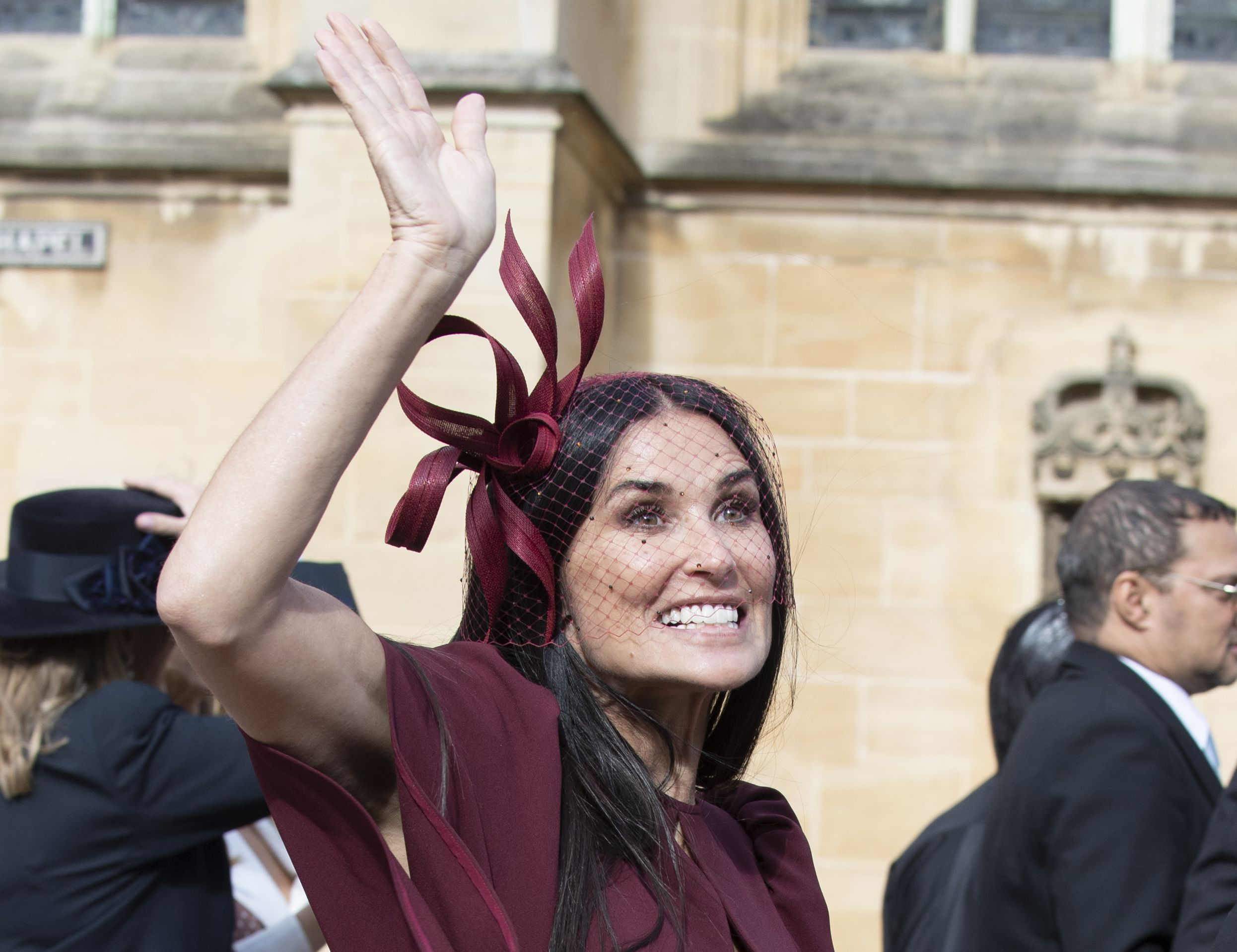 So This Is Why Demi Moore Was At The Royal Wedding Today