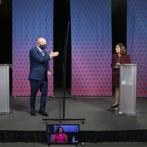 arizona republican sen martha mcsally and her democratic challenger mark kelly debate in phoenix