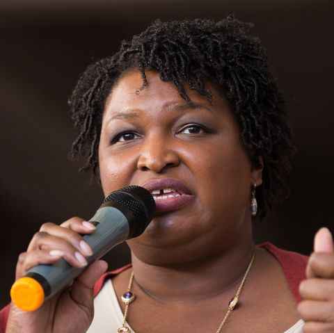 Democratic Gubernatorial Nominee Stacey Abrams Leads A 'March To The Polls' In Atlanta