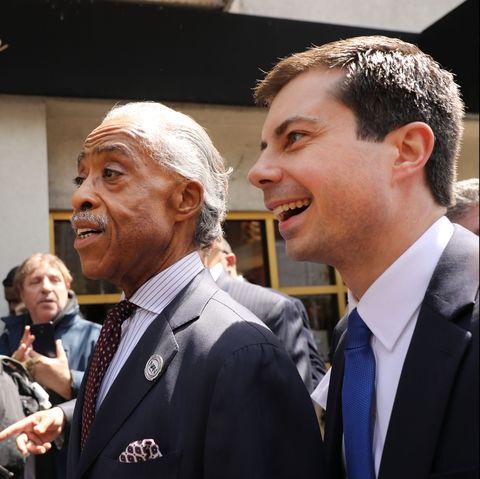 Rev. Al Sharpton Meets With Mayor Pete Buttigieg At Harlem Restaurant